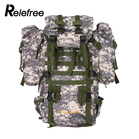 76ecf43111b3 80L Outdoor Military Tactical Camouflage Bag Large Capacity Men Women  Camping Hiking Waterproof Travel Backpack