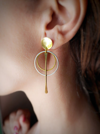 Doble round earrings