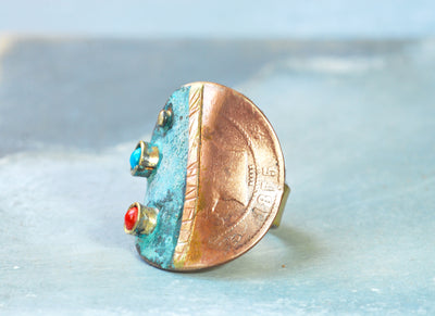 old spanish coin ring