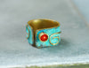 square red oxidized ring