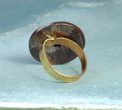 oxidized coin ring 1927s