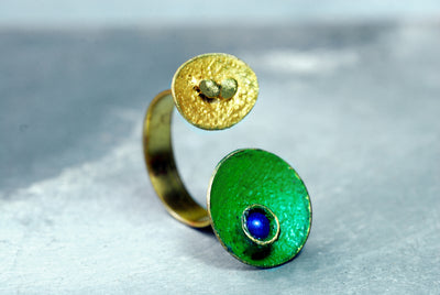 green gold open ring