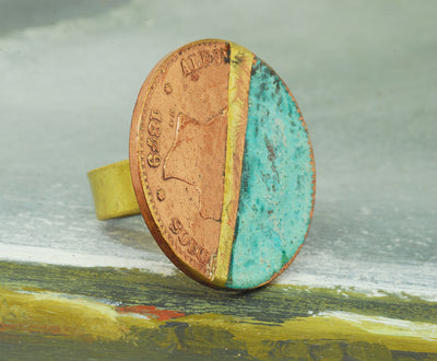 flat coin ring