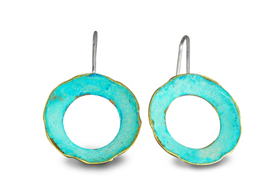 round oxidized earrings