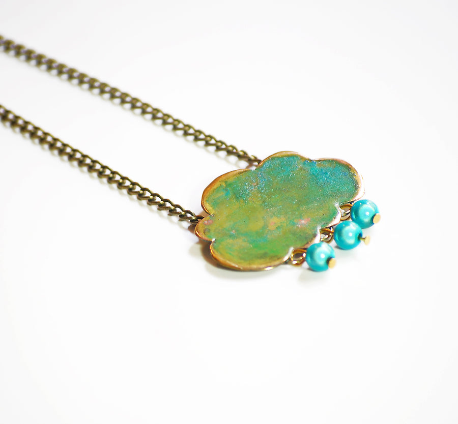Green Cloud necklace