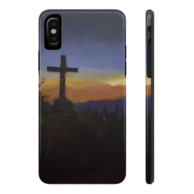 Tough Phone Case With Cross Mountain Artwork