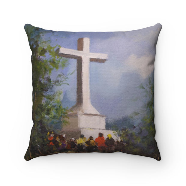 Medjugorje Both Hills Pillow