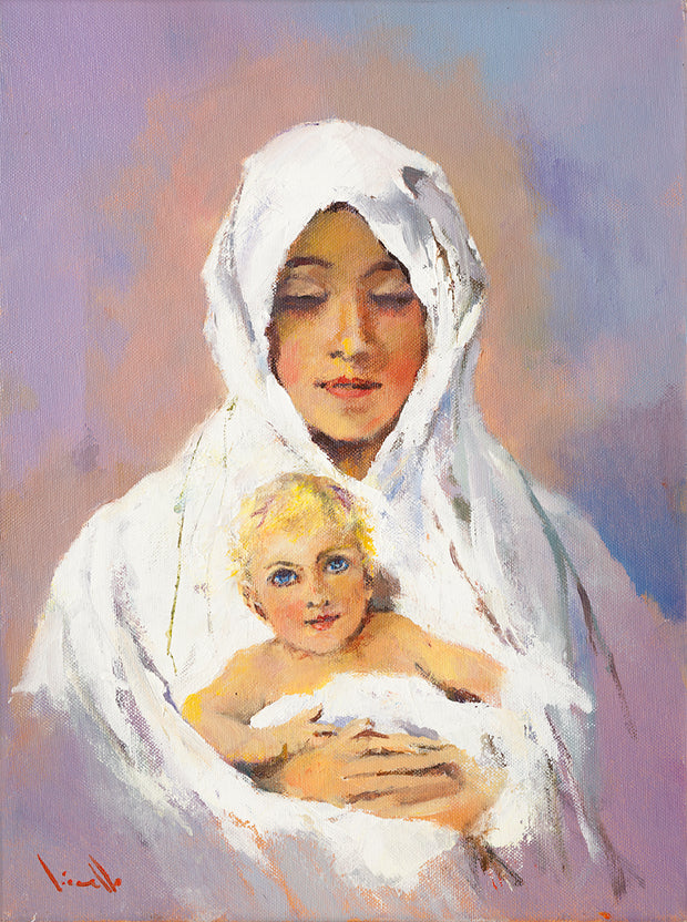 Apparition Hill Print - Madonna and Child painting