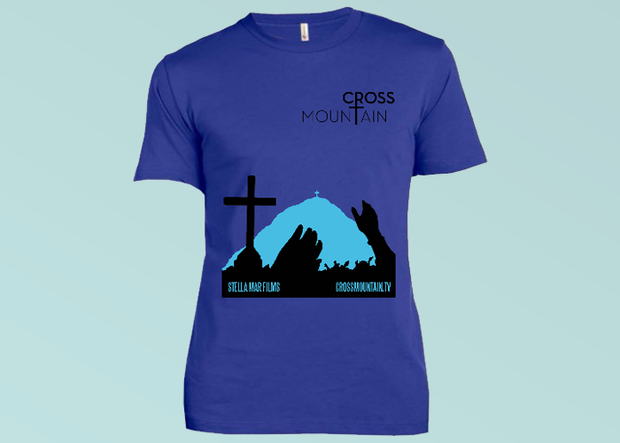 Cross Mountain T-Shirt - Royal Blue