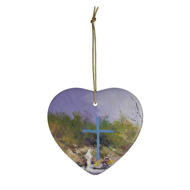 Blue Cross Christmas Ornaments