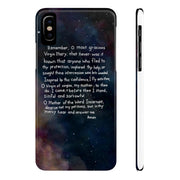 Memorare Prayer - Phone Cases