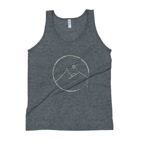 Cross Mountain Scene Unisex Tank Top