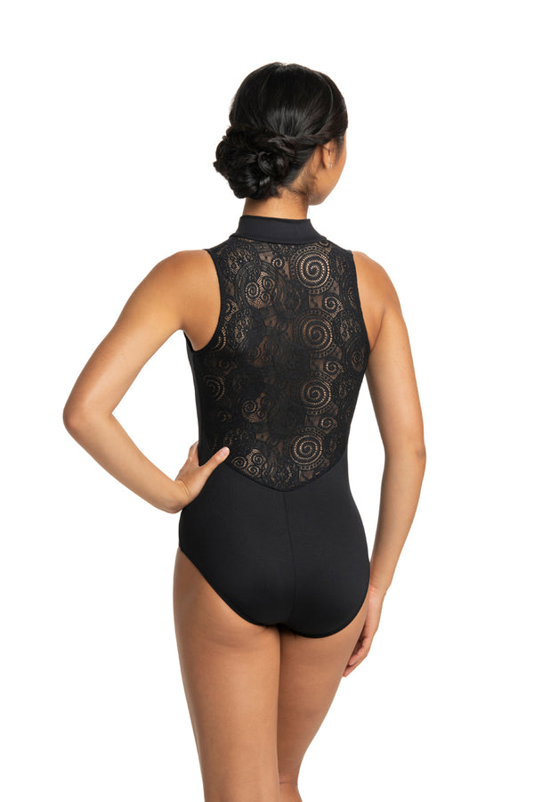 Zip Front Leotard with Lola Lace (1062LL)