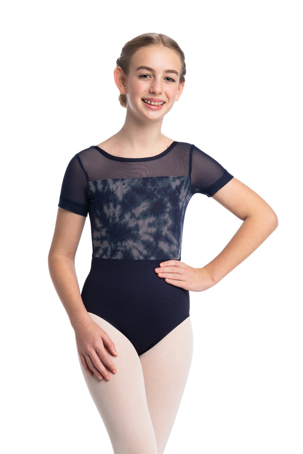 Girls Billie Leotard with Shibori Print (1095SH G)
