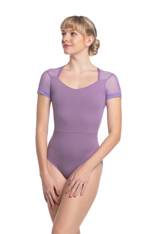 Lydia Leotard with Mesh (1108ME)