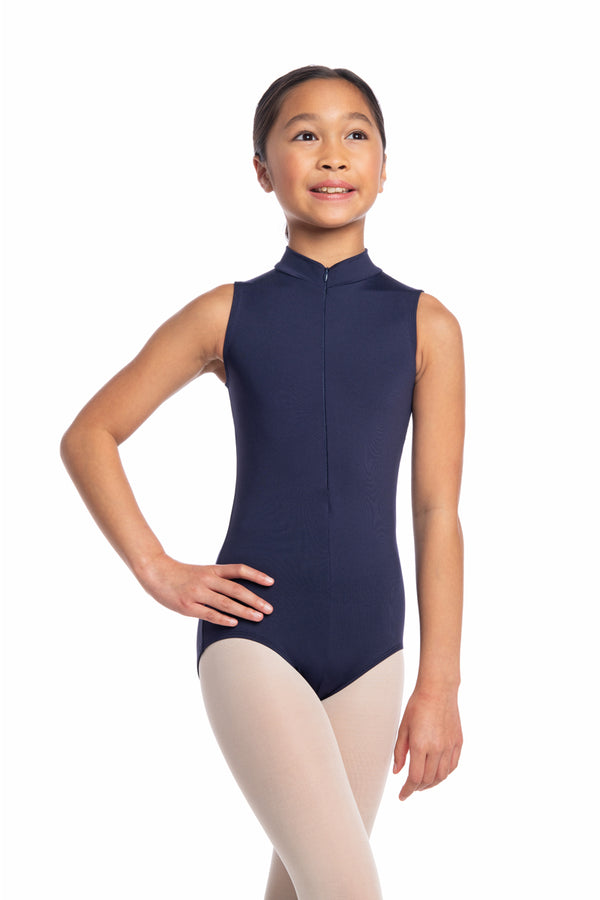 Girls Zip Front Leotard with Shibori Print (1062SH G)
