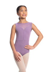 Girls Bianca Leotard with Mesh (1039ME G)