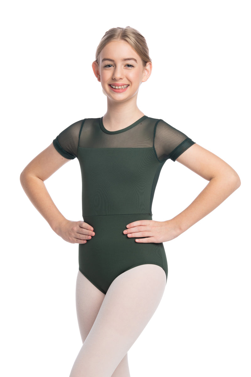 Girls Renee Leotard with Mesh (1089ME G)