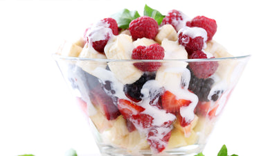 Fruit Salad with Fresh Coconut Cashew Cream
