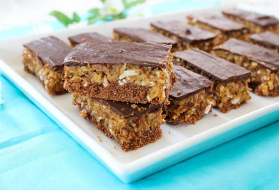 Vegan German Chocolate Cake Bars