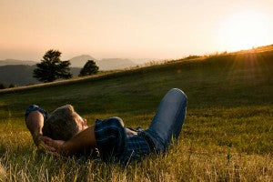 man_relax_grass_field_sunrise_dawn_country_happy_pic