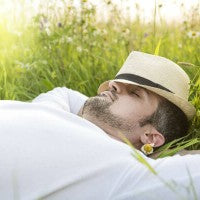 man_sleep_relax_field_outside_day_sunny_peaceful_pic