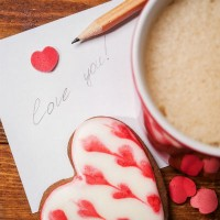 note_love_heart_cookie_cocoa_drink_warm_pencil_pic