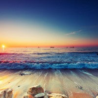ocean_ships_sunrise_beach_rockes_colors_pic