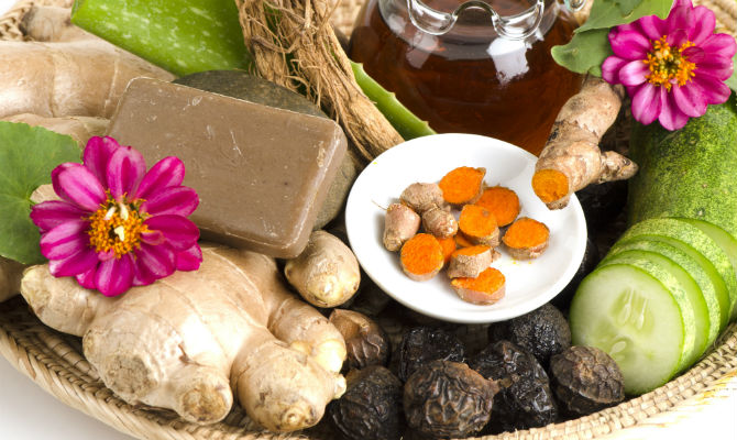 natural soap and healthy foot on tray-foods for radiant skin