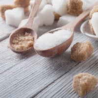 sugar_cube_brown_white_spoon_wood_sweet_pic