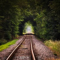 tunnel_trees_railroad_ties_travel_pretty_green_pic