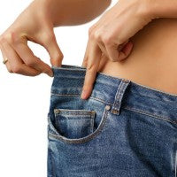 woman_stomach_tummy_flat_weight_loss_pants_smaller_pic