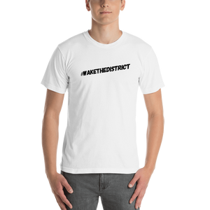 #wakethedistrict Men's Short Sleeve T-Shirt