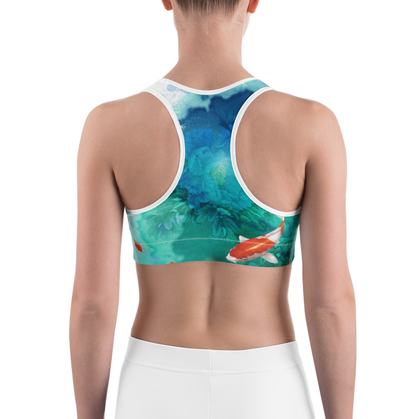Wakethedistrict Koi Fish Sports bra