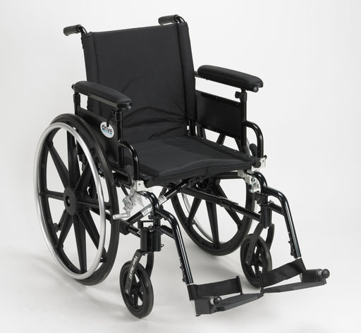"Viper Plus GT Wheelchair with Flip Back Removable Adjustable Full Arms, Swing away Footrests, 16"" Seat"
