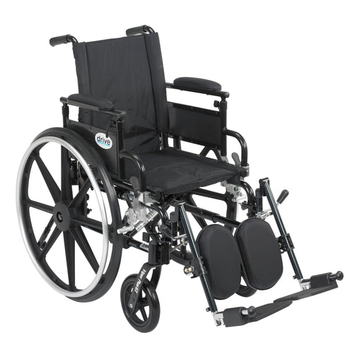 "Viper Plus GT Wheelchair with Flip Back Removable Adjustable Desk Arms, Elevating Leg Rests, 18"" Seat"