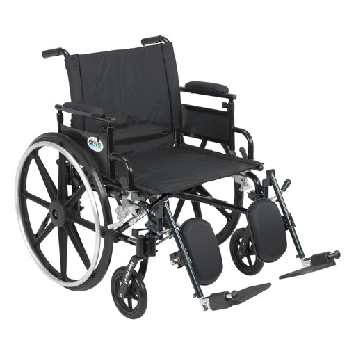 "Viper Plus GT Wheelchair with Flip Back Removable Adjustable Desk Arms, Elevating Leg Rests, 22"" Seat"
