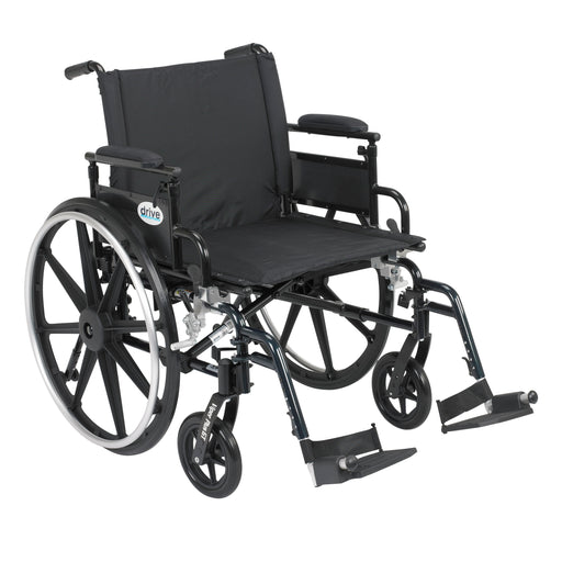"Viper Plus GT Wheelchair with Flip Back Removable Adjustable Desk Arms, Swing away Footrests, 22"" Seat"