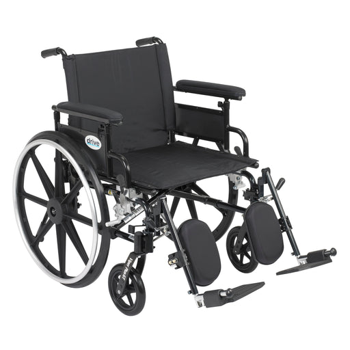 "Viper Plus GT Wheelchair with Flip Back Removable Adjustable Full Arms, Elevating Leg Rests, 22"" Seat"