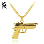 wholesale Fashion Mens Boys Necklaces Hand Pistol Gun Pendant Necklace - BLACKJEWLERY&CLOTHINGMATTER