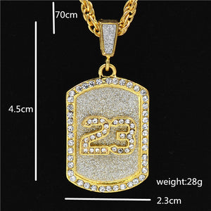 Uodesign The Praying Hands Pendants & Necklaces Brother Gift Gold Color Crystal Alloy Hip Hop Men Chain Jewelry - BLACKJEWLERY&CLOTHINGMATTER