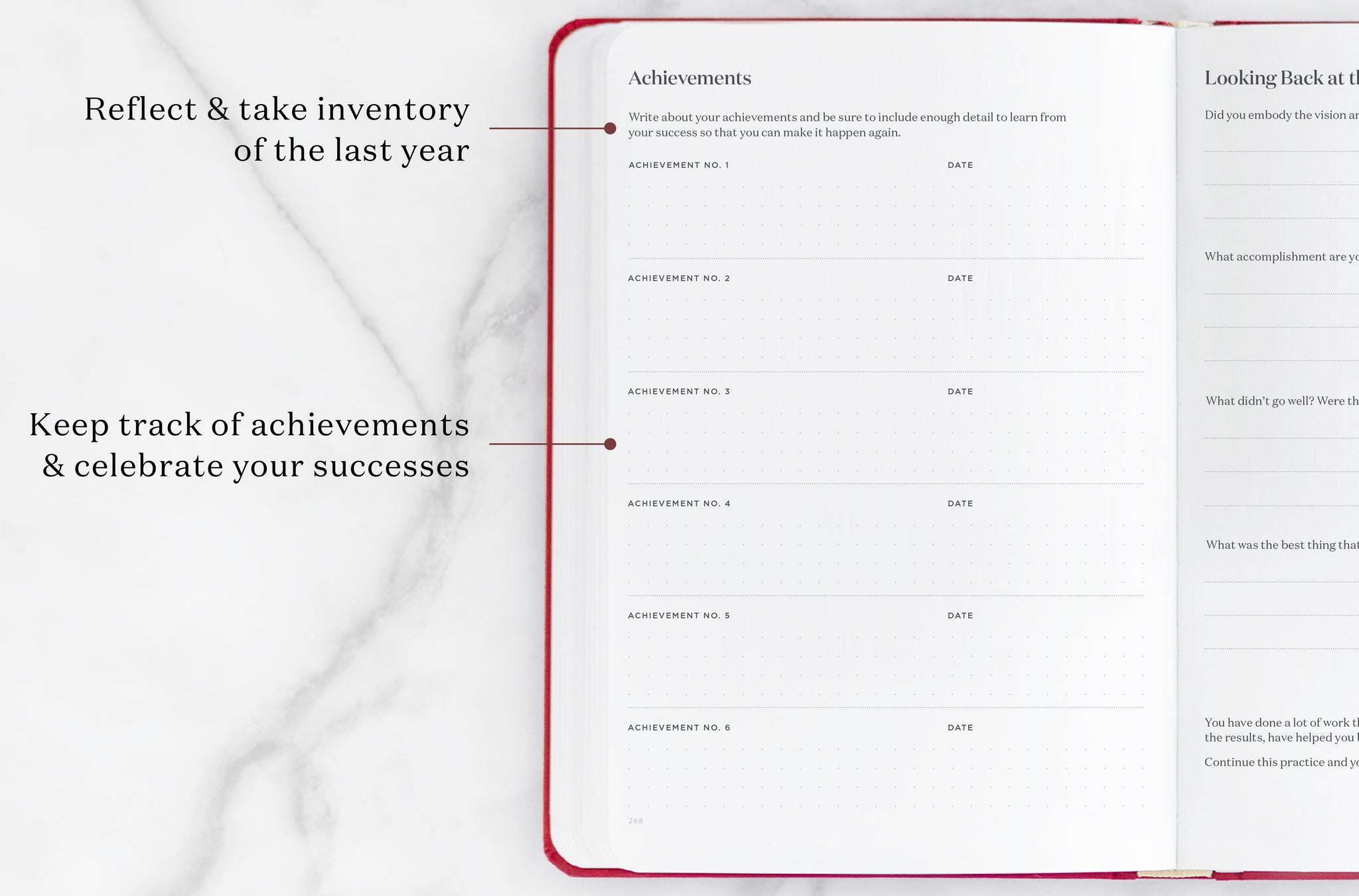 achievements planner page