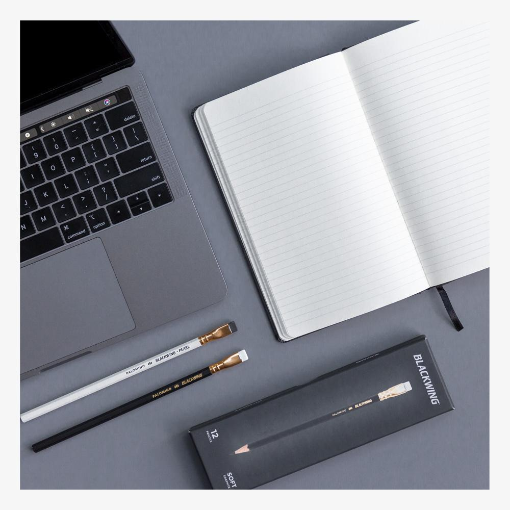 Blackwing Slate Lined Notebook in table