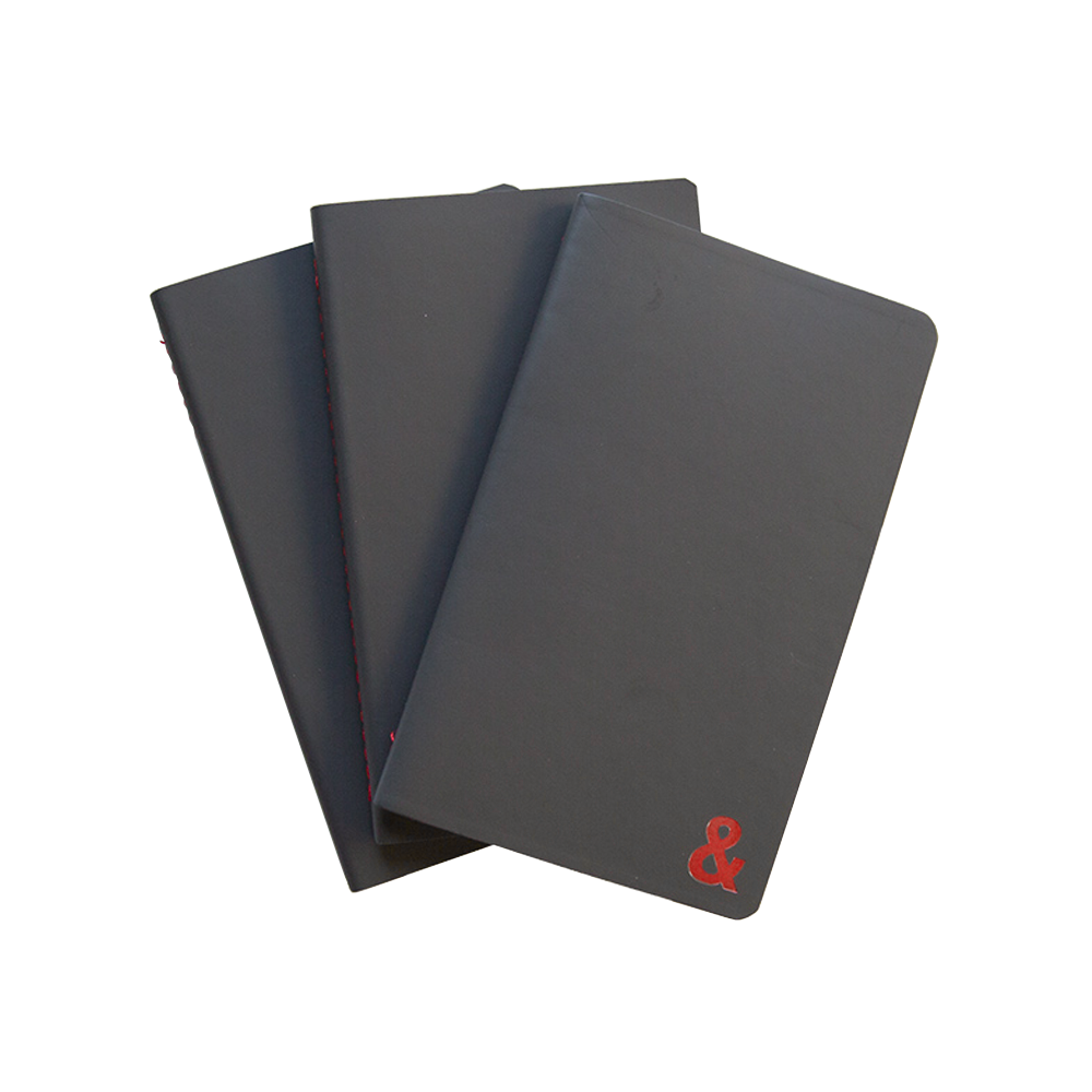 Scribe Pocket Notebooks set of 3 grey