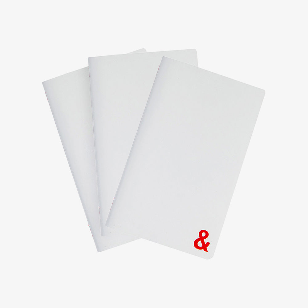 Scribe Pocket Notebooks set of 3 white