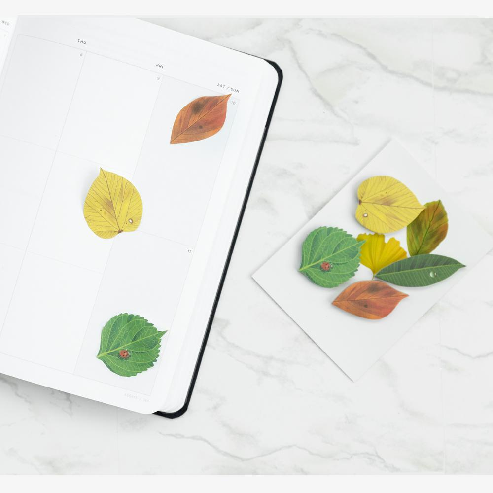 Found Objects: Leaves Sticky Notes