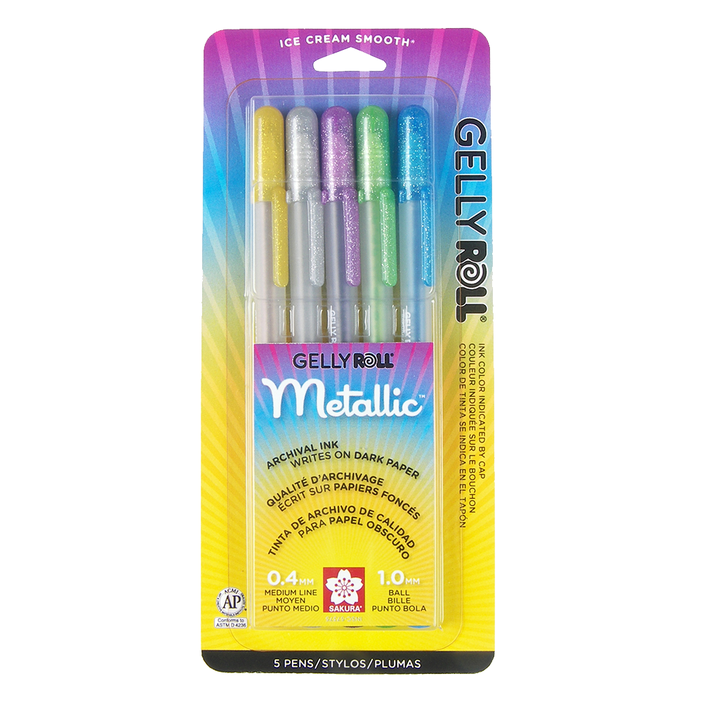 Gelly Roll Hot Metallic 5-Pack