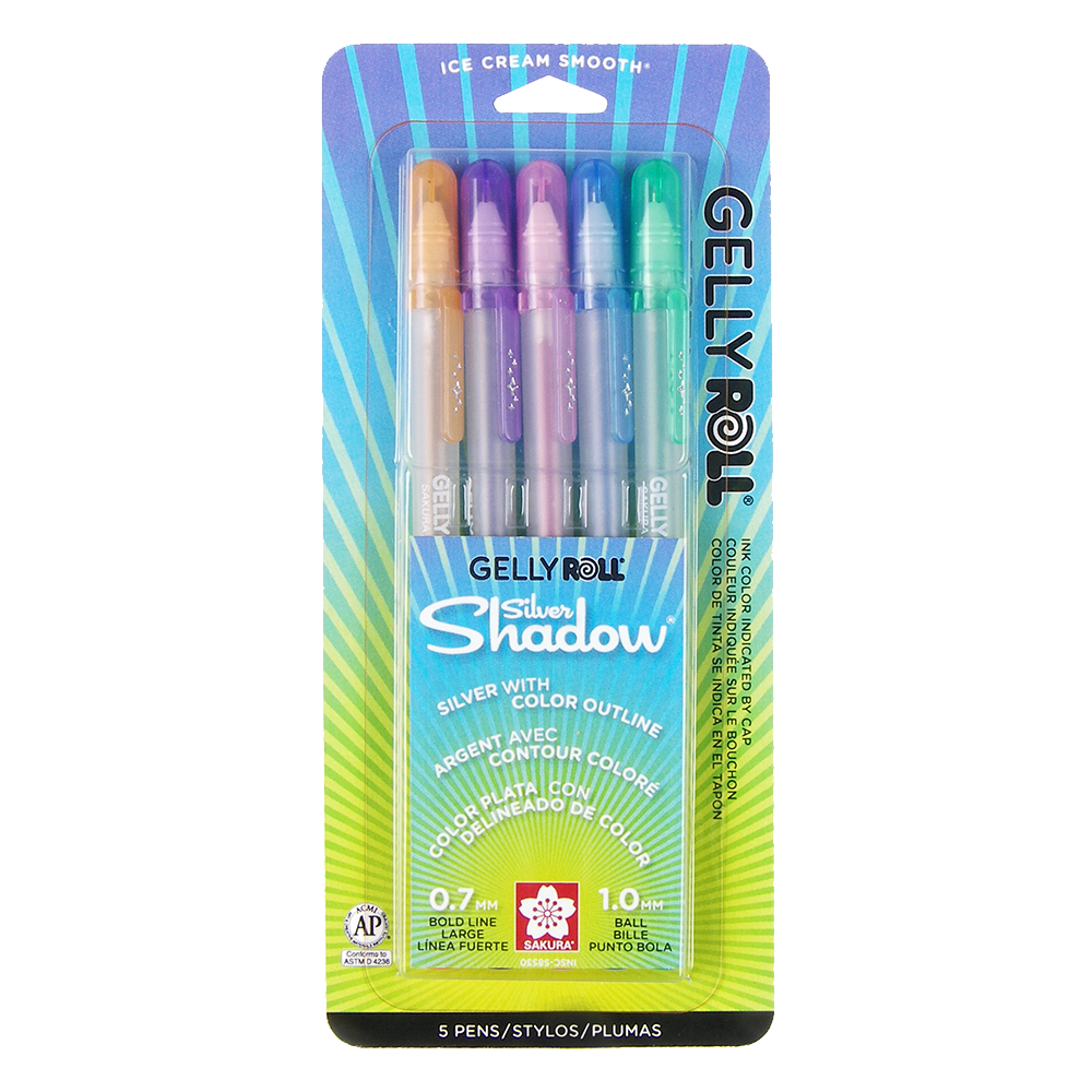 Gelly Roll Silver Shadow 5-Pack