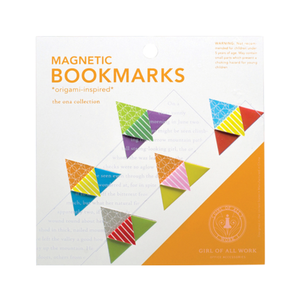 Triangles Magnetic Origami Bookmarks