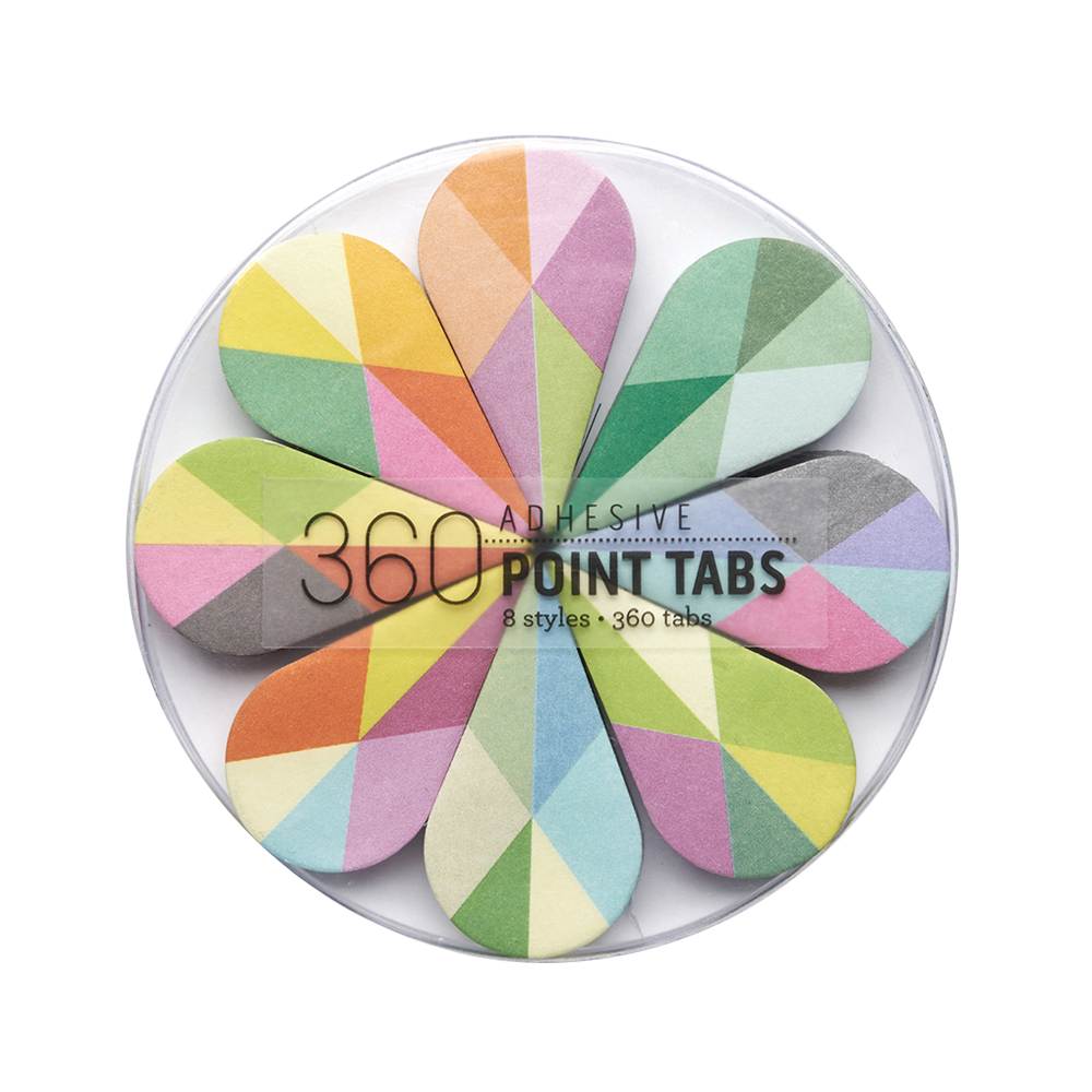 Adhesive point tabs pirouette